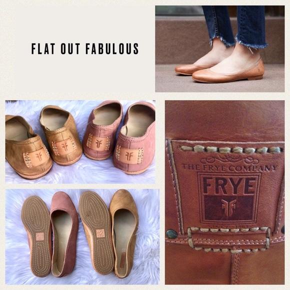 c7c59b8292d4 Frye Shoes - 2 Pair-Frye👣Leather Nubuck Flats